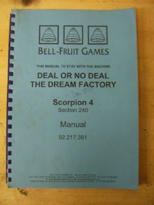 Deal or no Deal - Dream Factory - Scorpion 4 Manual
